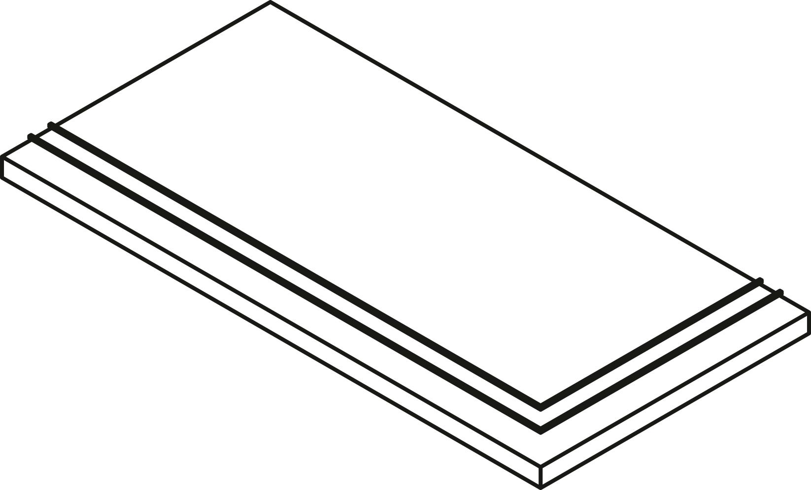 STEP EXTRA THICK CORNER INOX 30X60 *