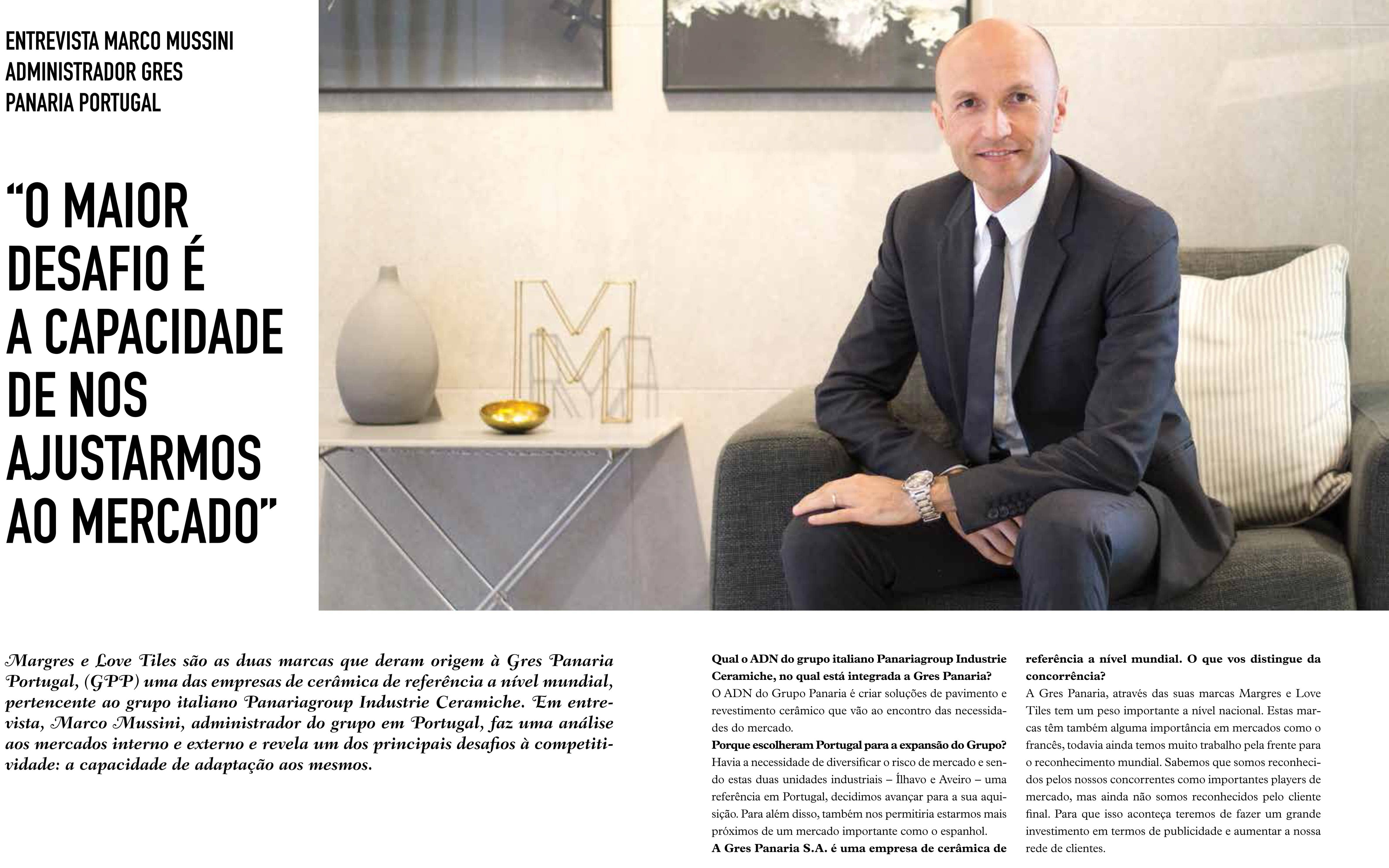 President of Gres Panaria Portugal Interview by Litoral Magazine