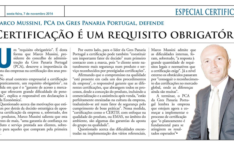 Entrevista com CEO da Gres Panaria Portugal