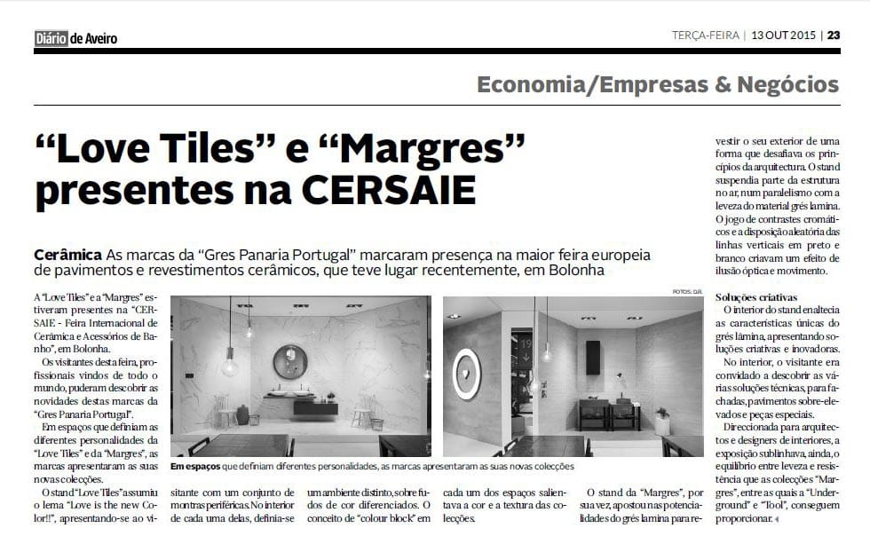 Love Tiles e Margres presentes na Cersaie