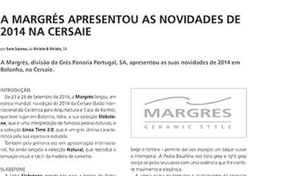 Margres apresentou novidades na Cersaie 2014