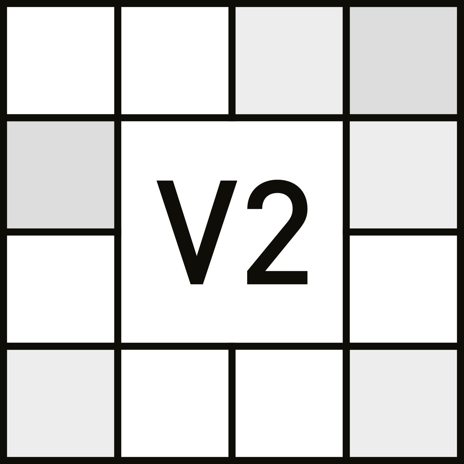 V2 - BAIXO - Ligeira variação. - ANSI A137.1 - Farbspiel
