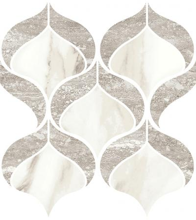 Mosaic Shell Travertino Grey