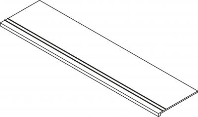MASSIVE STUFENPLATTE INOX 30X120