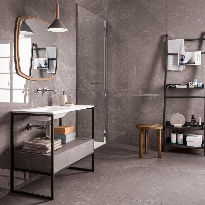 kerlite exedra Rain Grey 100x300 Glossy-100x100 Glossy