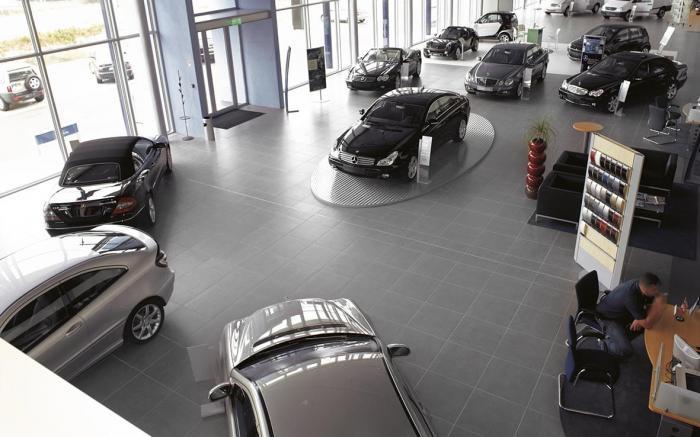 Stand car class Mercedes